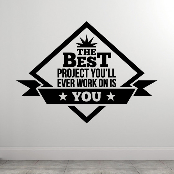 The Best Project wallsticker