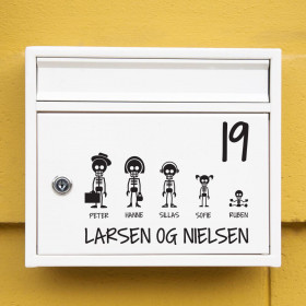 Skelet familie wallsticker