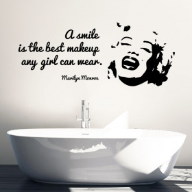 Marilyn Monroe - A smile wallsticker