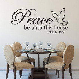 Peace be unto this house wallsticker