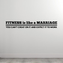 Fitness Is Like A Marriage