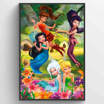 Disney Fairies Flowers Plakat