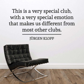 Special club - Jürgen Klopp wallsticker