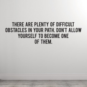 Obstacles wallsticker