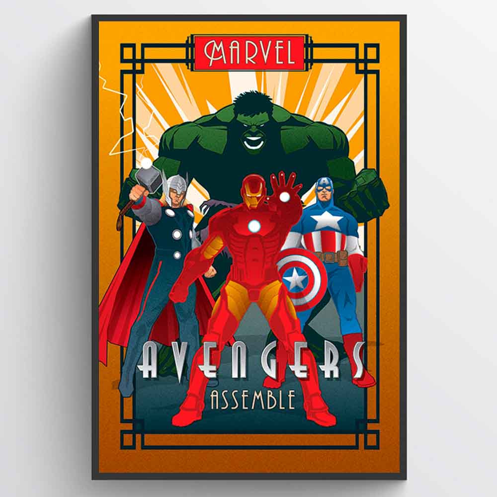 Marvel Deco Avengers Plakat wallsticker