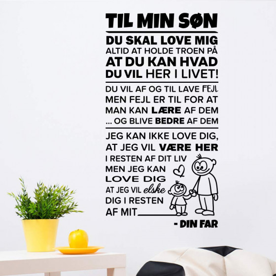 Min søn wallsticker