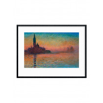 Monet - Sunset in Venice Plakat