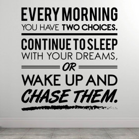 Wake Up - Fitness wallsticker