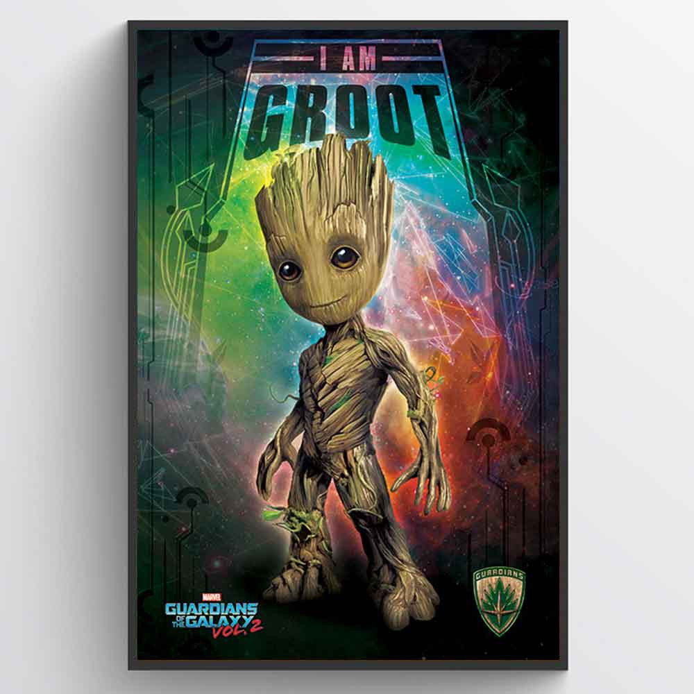 Guardians of the Galaxy Vol. 2 (I Am Groot - Space) Plakat wallsticker