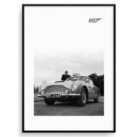 James Bond (Connery B+W) Plakat wallsticker