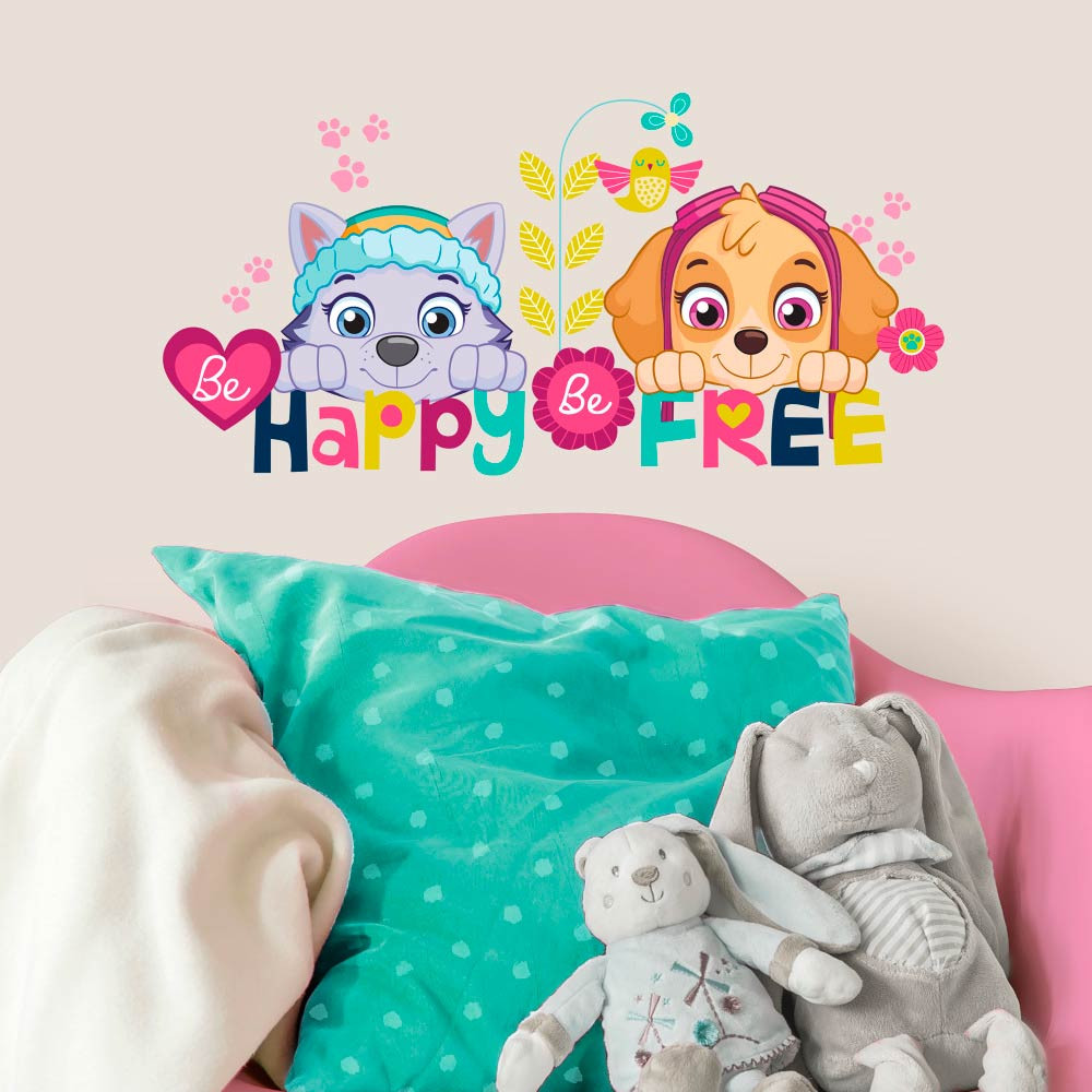 Paw Patrol - Be happy wallsticker