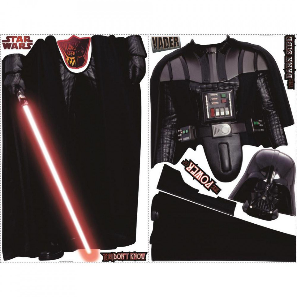 star wars darth vader wallsticker fra kun 399 kr stickers muraux star wars