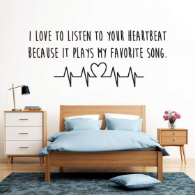 Heartbeat wallsticker