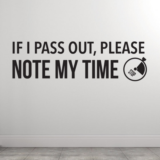 If i pass out wallsticker