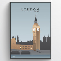 London - Big Ben - plakat