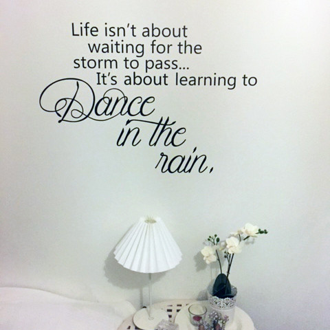 Dance in the rain wallsticker