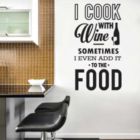 I cook with wine wallsticker