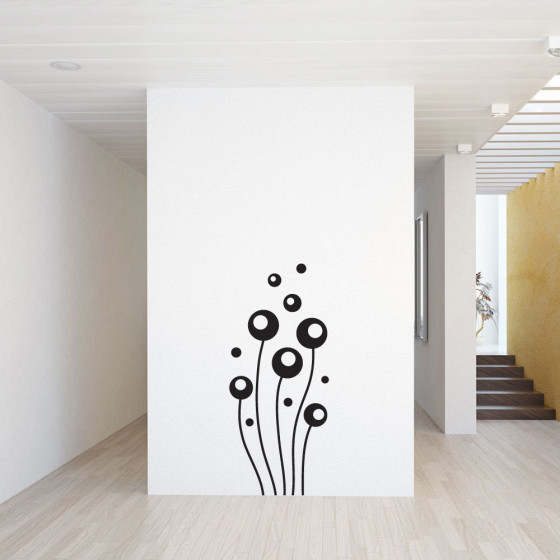 Abstrakte blomster wallsticker