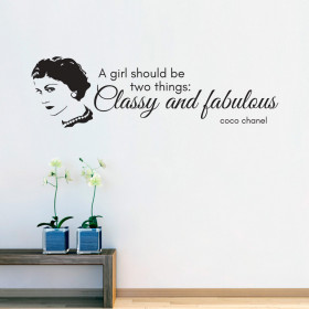 Classy and fabulous - Coco Chanel wallsticker