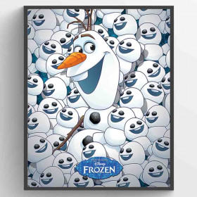 Frozen Fever Olaf & Mini Olafs Plakat wallsticker