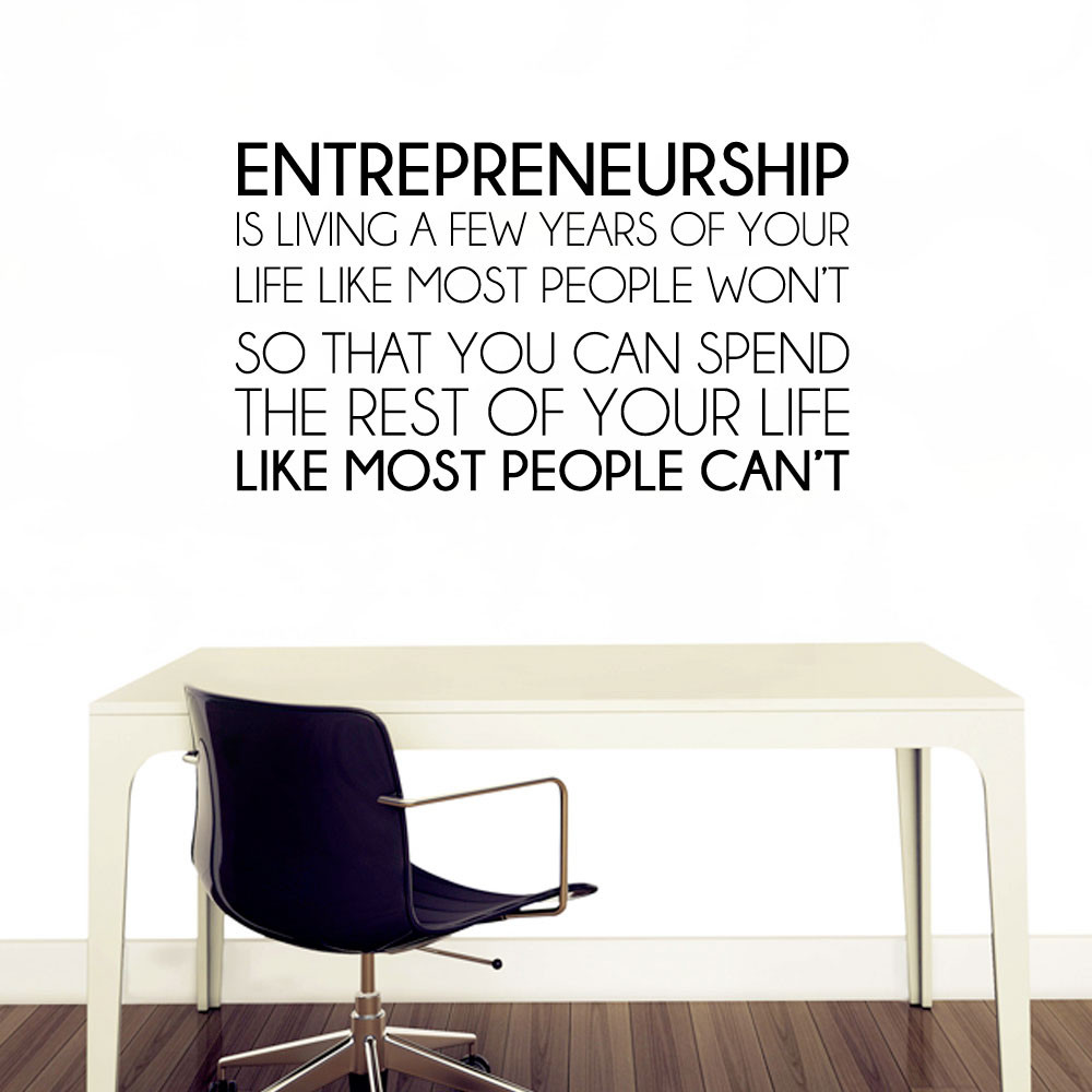 Entrepreneurship wallsticker
