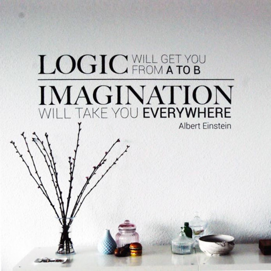Logic & imagination wallsticker