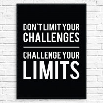 Challenge your limits Plakat