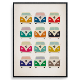 VW (Campers Pop Art) Plakat wallsticker