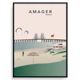 Amager Strand Poster wallsticker