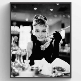 Audrey Hepburn - Breakfast at Tiffanys Plakat wallsticker