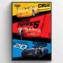 Cars 3 Trio Plakat