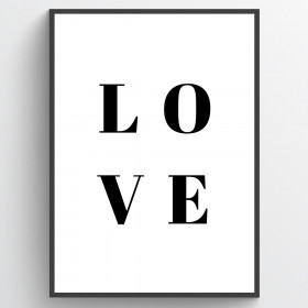 Love plakat wallsticker