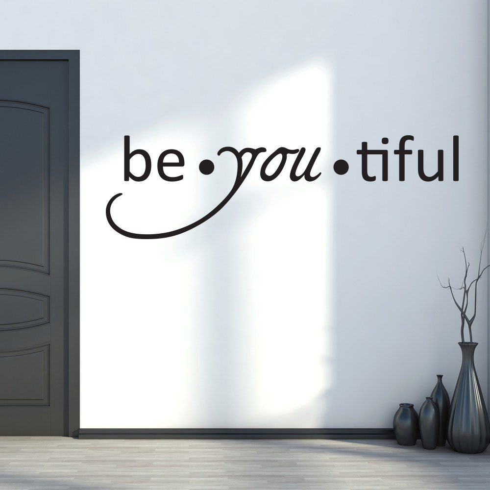 Be-you-tiful wallsticker