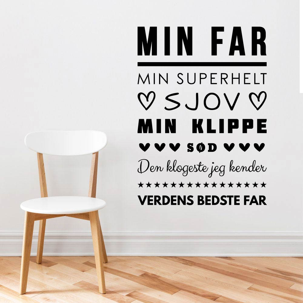 Min far wallsticker