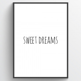 #1 Sweet dreams plakat wallsticker
