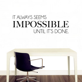 Impossible wallsticker
