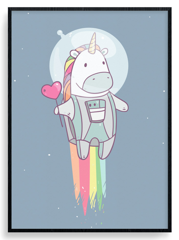 Space Unicorn Plakat wallsticker