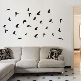 Fugleflok wallsticker