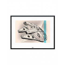 Star Wars Episode VII (Millennium Falcon Pencil Art) Plakat wallsticker