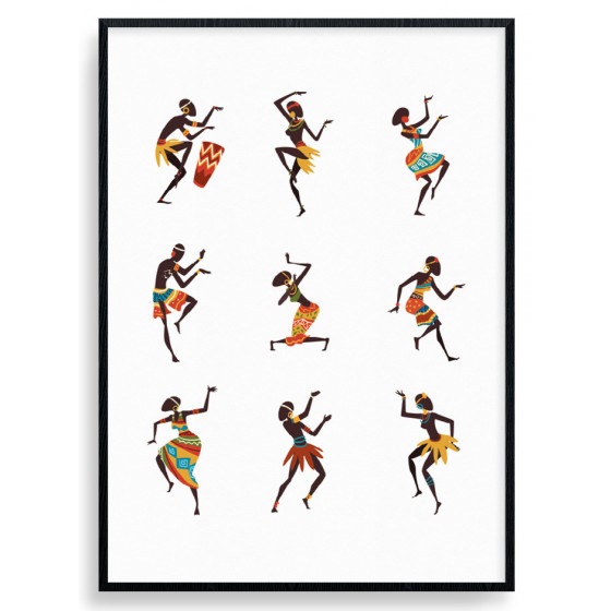 African Dance Plakat wallsticker