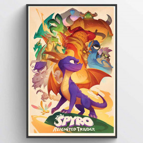 Spyro (Animated Style) Plakat wallsticker