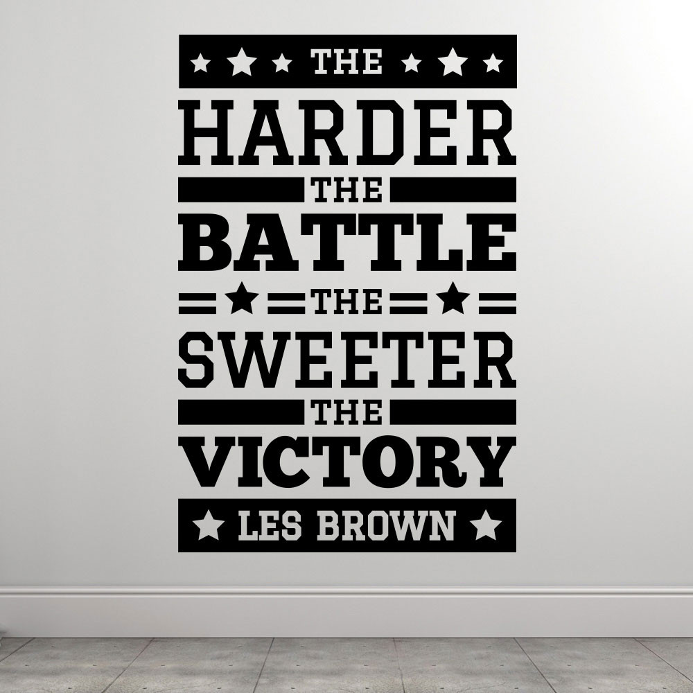 Sweet victory - Les Brown wallsticker