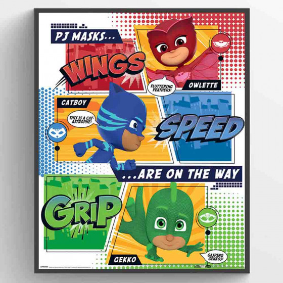 PJ Masks - On the Way Plakat wallsticker