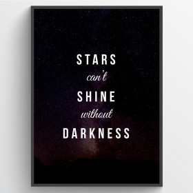 Stars can't shine - plakat wallsticker