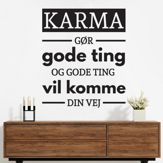 Karma wallsticker