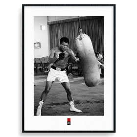 Muhammad Ali - Punch Bag Plakat wallsticker