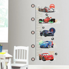 Cars - højdemåler wallsticker