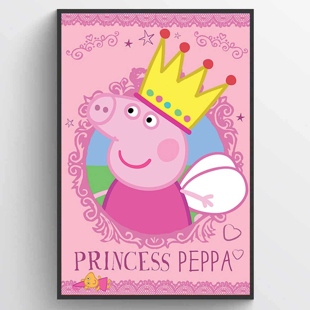 Peppa Pig (Princess Peppa) Plakat wallsticker