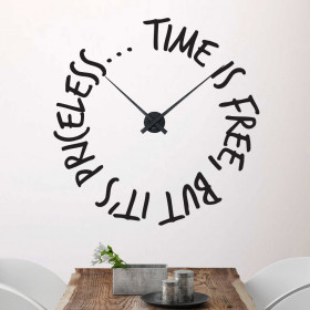 Time is free ur wallsticker