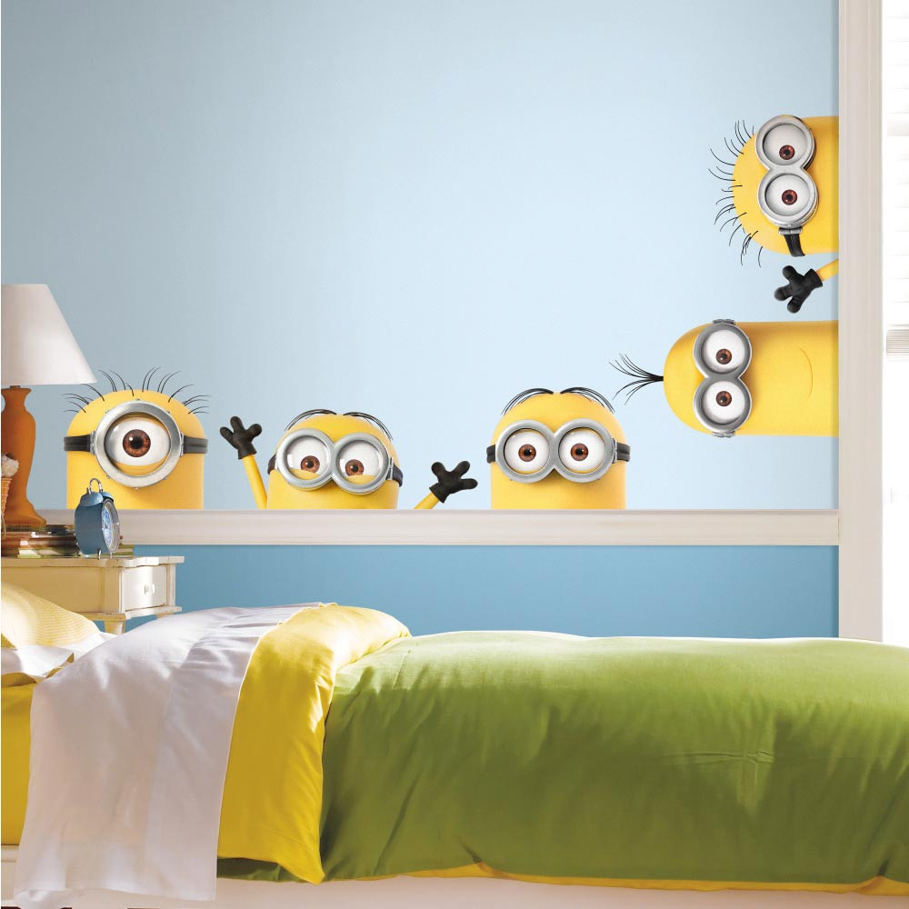Lurende Minions wallsticker